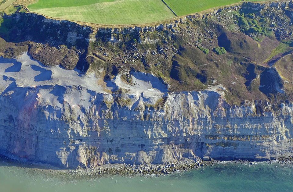 On the edge: Alum cliffs at Boulby, North-east Yorkshire